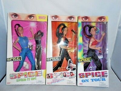 1998 Spice Girls Sporty Doll Lot Spice It Up ~ Girl Power ~ On Tour NRFB Mel C