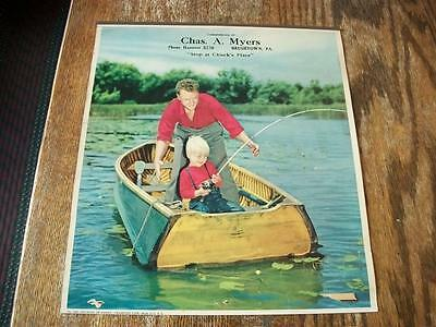 Vintage Advertising Calendar Top - Chas. A. Myers - Brushtown, PA