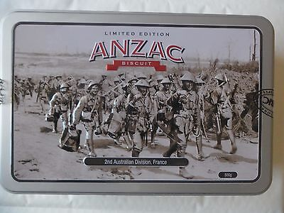 Limited Edition ANZAC TIN, 2nd Australian Division France, comes empty