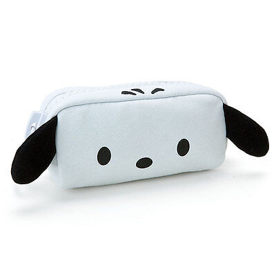 Pochacco mega zip pouch (face) Sanrio Kawaii Cute Free shipping NEW