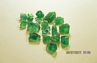 EMERALD FACET ROUGH Grass Green FROM ZAMBIA Natural Untreated 20.75Ct's