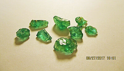 EMERALD FACET ROUGH Grass Green FROM ZAMBIA Natural Untreated 9.45Ct's