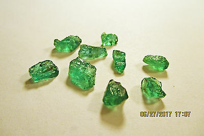 EMERALD FACET ROUGH Grass Green FROM ZAMBIA Natural Untreated 9.70Ct's