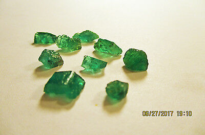 EMERALD FACET ROUGH Rich Medium Green FROM ZAMBIA Natural Untreated 9.75Ct's