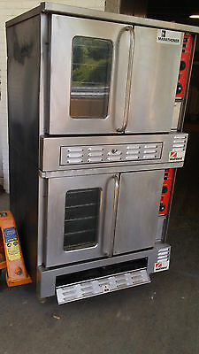 Sq's1ffSouthbend Gold Marathoner X20 Gas Double Stack Full Size Convection Oven.