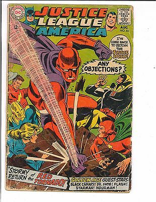 Justice League of America #64 1st Appearance of Red Tornado 1968 DC