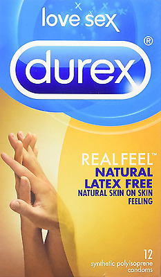 Durex Quality Condoms, Real Feel-Natural Latex Free, 12 Count