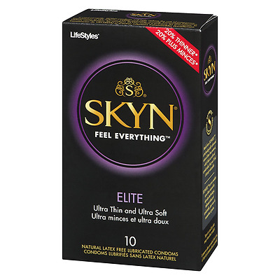 Lifestyles Skyn Elite Condoms, Natural Latex Free, 10 Count