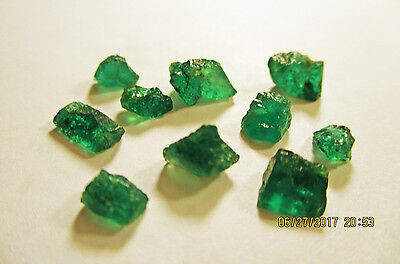 EMERALD FACET ROUGH Rich Medium Green FROM ZAMBIA Natural Untreated 10.15Ct's