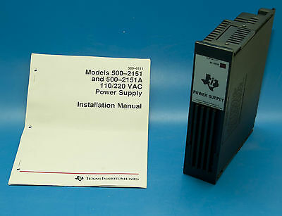 SIEMENS TEXAS INSTRUMENTS 500-2151-A POWER SUPPLY Wired for 220VAC/Appear New