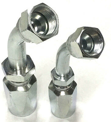 JIC 45° Tube Bend Hydraulic Field Fittings Reusable Two Wire Braid Fittings