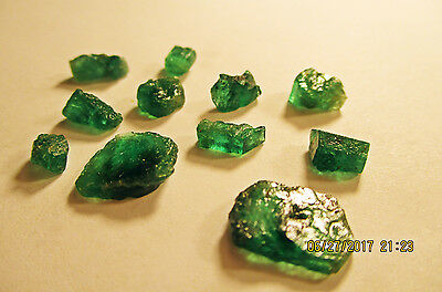 EMERALD FACET ROUGH Rich Medium Green FROM ZAMBIA Natural Untreated 19.60Ct's