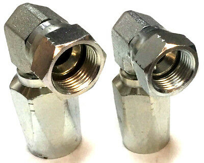 JIC 90° Elbow Hydraulic Field Fittings Reusable Two Wire Braid Fittings