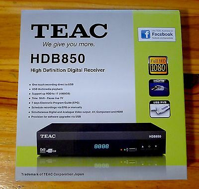 NEW Teac HD Set Top Box HDB850 with One Touch USB Recording