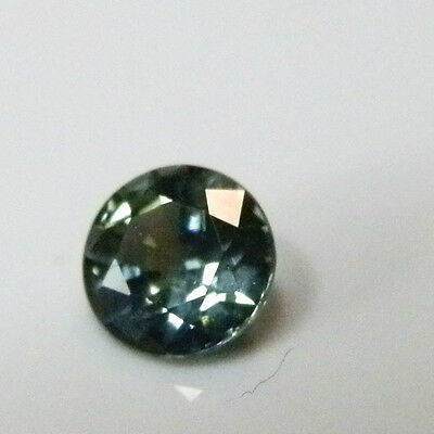 Natural Australian earth-mined blue/green round sapphire ..0.38  carat