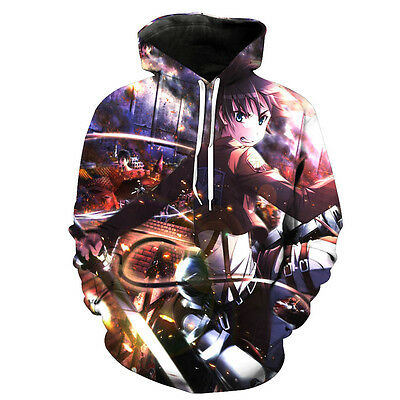 Attack on Titan Shingeki no Kyojin Anime 3D Print Hoodie Jumper Sweatshirt
