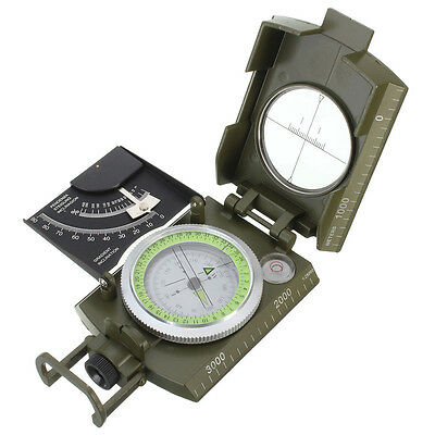 Professional Military Army Metal Sighting Compass clinometer Camping K3Q2