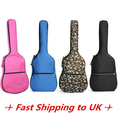 Acoustic Guitar Hard Case Padded Waterproof 4/4 Electric Guitar Case Bag 3/4
