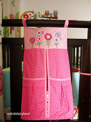CLEARANCE !!! Brand NEW Pink Flowers, Bird & Butterfly Nappy Stacker