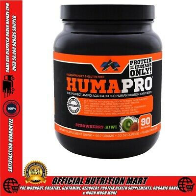 Alr Industries HumaPro 90 Serves Kiwi Strawberry - Vegan & Gluten-Free BCAA'S +