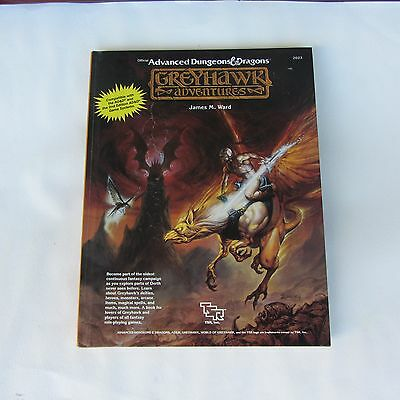 Official Advanced Dungeons & Dragons Greyhawk Adventures by James Ward (HC) 1988