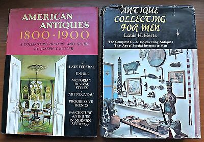 Two Antiques General Reference Books, Antiques for Men & American Antiques