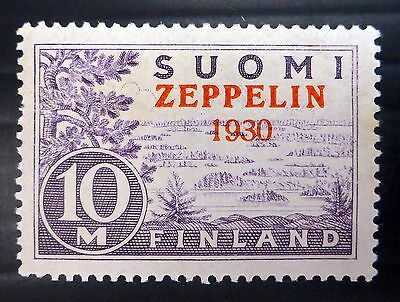 FINLAND 1930 Zeppelin SG281 Mounted Mint with Slightly Toned Gum NB1789
