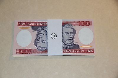 Pack of 25 Banknotes, Brazil 100 Cruzeiros, 1984, P-198, UNC