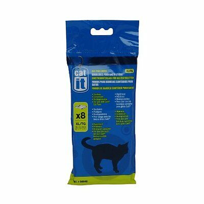 Catit Cat Pan Litter Tray Liner, Extra Large, Pack of 8