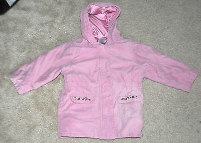 Vintage Gymboree Rocky Mountain Pink embroidered Coat Jacket Size 3 3T