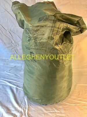 US Military WATERPROOF WET WEATHER BAG CLOTHING Clothes Gear Laundry SACK GC
