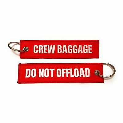 Crew Baggage / Do Not Offload Luggage Tag | Embroidered Key chain | Crew Tag