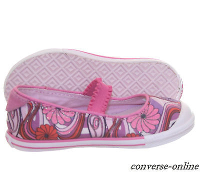 Baby Girl Infants CONVERSE All Star PINK MARY JANE SLIP Trainers Shoes SIZE UK 7
