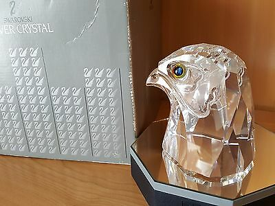 Swarovski  Large Falcon Head Prestige V1 - Mib - Very Very Rare