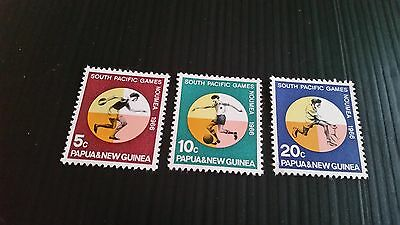 Papua New Guinea  1966 Sg 97-99 South Pacific Games.mnh