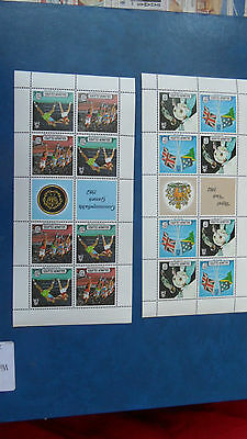 Solomon Islands 1982 Ms475 Royal Visit And Ms476 Commonwealth Games Mnh