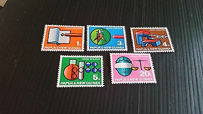 Papua New Guinea  1967 Sg 104-108 Higher Education.mnh