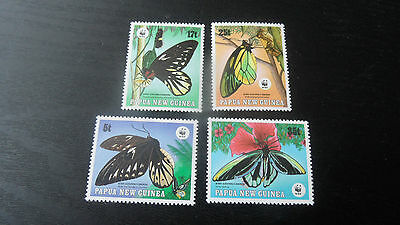 Papua New Guinea 1988 Sg 579-582 Endangered Species Butterflies.mnh