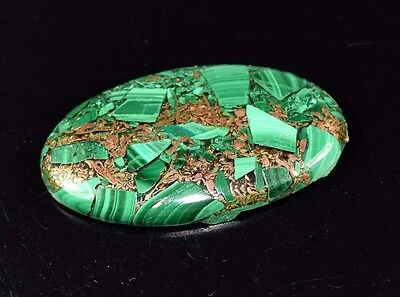 Elegant 33.95 Cts. Natural Copper Malachite Oval Cabochon Loose Gemstones