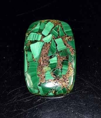 Elegant 36.10 Cts. Natural Copper Malachite Cushion Cabochon Loose Gemstones