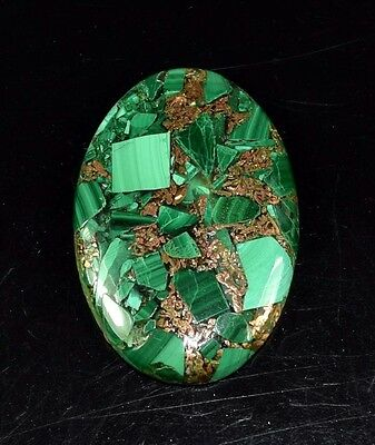 Elegant 35.75 Cts. Natural Copper Malachite Oval Cabochon Loose Gemstones