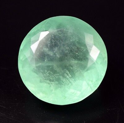Excellent !  55.10 Cts. 100 % Natural Fluorite  Round Cut For Silver Pendant