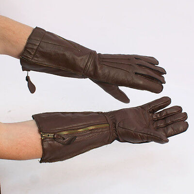 British WW2 RAF 1933 Flying Gauntlets with Centre Zip Replica