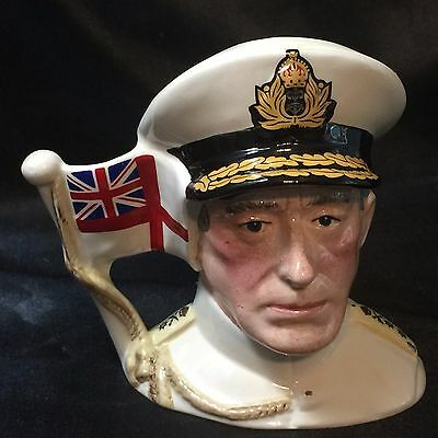 "Royal  Doulton  ""Earl Mountbatten of Burma"" Toby Mug -D6851 - 2376/9500"