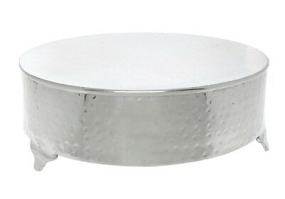 "New round Wedding cake stand silver 18"" Napier"