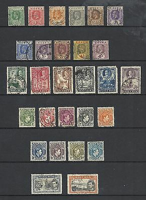 King George V / King George VI Selection of Good Used Interesting Stamps NIGERIA