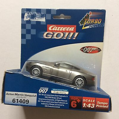 carrera slot car james bond 007 Aston Martin 1:43 Boxed Die Another Day 61410
