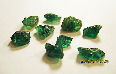 EMERALD FACET ROUGH Rich Dark Green FROM ZAMBIA Natural Untreated 11.70Ct's