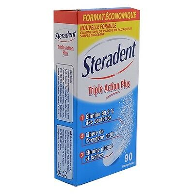 Steradent Triple Action Plus 90 Compresse Pulenti Per Dentiera