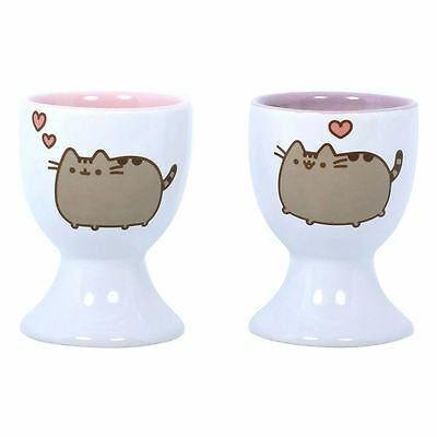 Officially Licensed Pusheen The Cat Breakfast Set - Set of 2 x Egg Cups